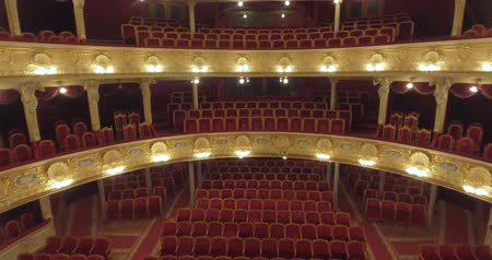 concertgebouw : Flying inside the Opera. Lviv CITY OPERA Theater, UKRAINE, - November 27, 2017