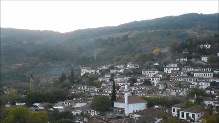 judgment day : Sirince village at sunrise, morning time. Historical white houses, Izmir Turkey.