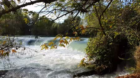 naturale : Waterfall flowing with sound. Manavgat waterfall in Turkey.