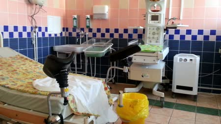 maternity hospital : RUSSIA, OREL - 02 JUNE 2014: Panorama of delivery room in prenatal  center
