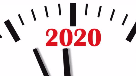полночь : New Year 2020 Clock. Clock countdown to 2020. Стоковые видеозаписи