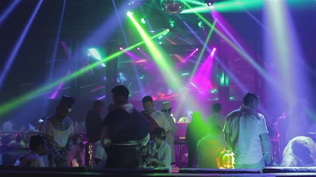 discotheque : nightclub crowd Stock Footage