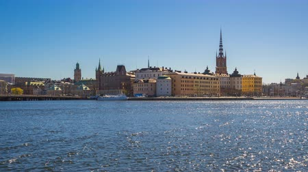 estocolmo : Time Lapse video of Stockholm city Gamla Stan in Sweden, Timelapse 4k