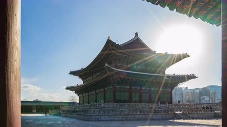 gyeongbokgung : Timelapse video of Gyeongbokgung Palace in Seoul, South Korea Time Lapse 4K