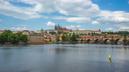 Time lapse video of Prague old town in Czech timelapse 4K