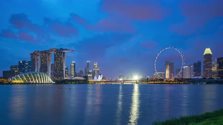 Singapore city skyline timelapse day to night time lapse in Singapore