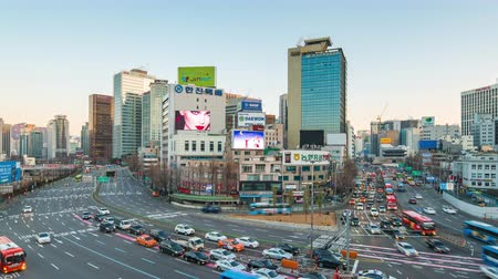 cars traffic : Seoul cityscape time lapse of Traffic in Seoul, South Korea timelapse 4K