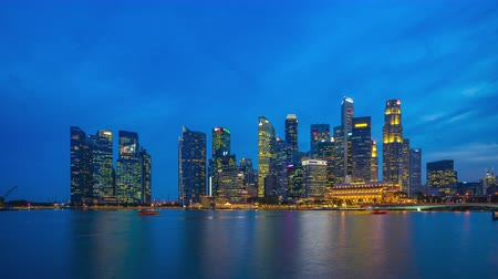 Singapore skyline day to night time lapse in Singapore city