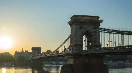 Chain Bridge in Budapest city, Hungary