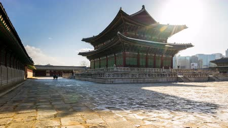 gyeongbokgung : Gyeongbokgung Palace time lapse in Seoul, South Korea Timelapse