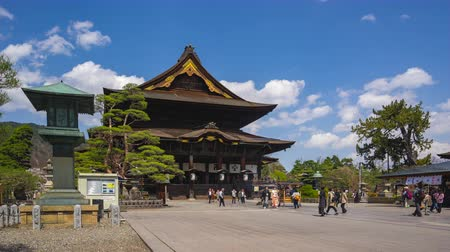 The Main Hall of Zenkoji Temple in Nagano, Japan time lapse