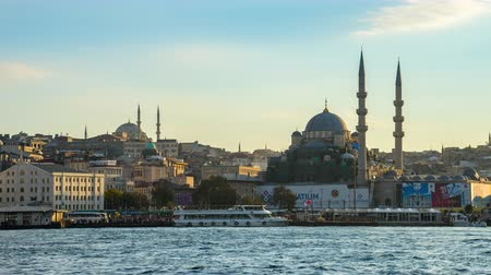 Timelapse of Istanbul city skyline in Istanbul, Turkey
