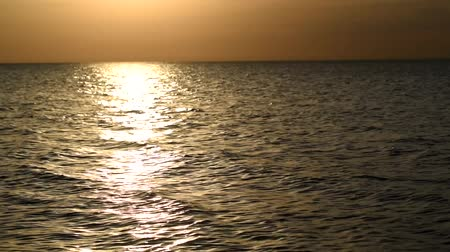 Beautiful sea landscape of the Sea of Azov. Stock Footage
