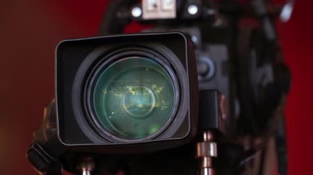 broadcast video : Professional HD video camera Stock Footage