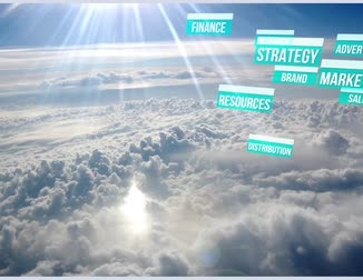 branding : Content Marketing Strategy boven de wolken