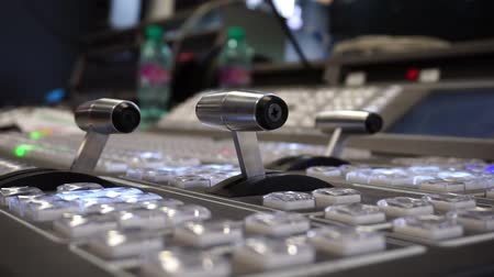 broadcast video : Video Production Switcher of Television Broadcast Stock Footage