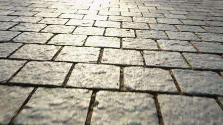 valoun : Pavement made of stone. Beautiful garden walkway Dostupné videozáznamy