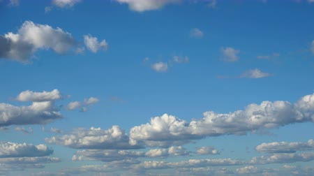 ba : Clouds & Sky, loop-able cloudscape. Morning sky with white spindrift clouds of good weather day.