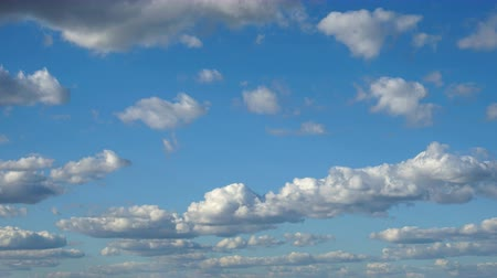 Clouds & Sky, loop-able cloudscape. Morning sky with white spindrift clouds of good weather day.