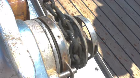 pulling rope : The process of lifting the anchor using a windlass.