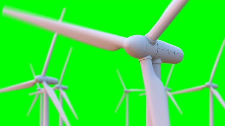 szélturbina : Seamless looping animation of wind turbines spinning