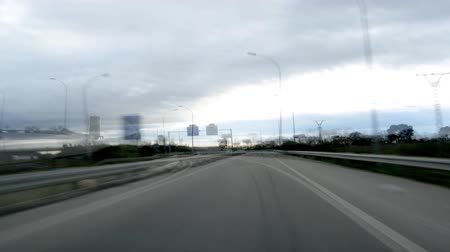 drive : Driving on highway day time lapse