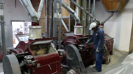 otruby : Miller ; Miller controls the machines that grind wheat on electric power,video clip