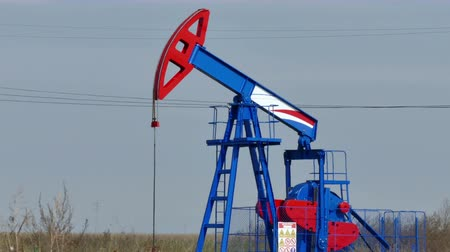petrokimya : Exploitation of crude oil ; Working oil pump in the oil field