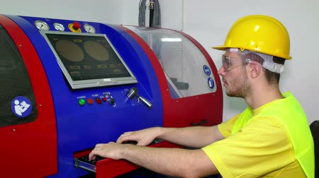 machinist : Computer control of the working machine ; The machine technician performs computer control of the working machine