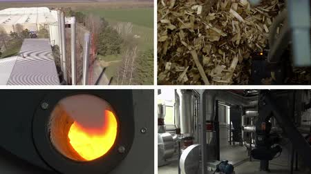 Zrenjanin ; Serbia: 04042018. Plant for the production of bio energy from pelleted crop residues Wideo