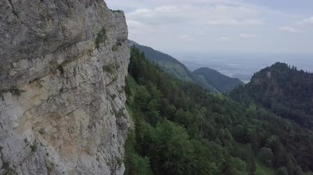 high rock face in Switzerland Стоковые видеозаписи