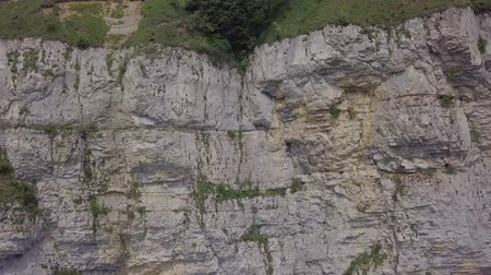 high rock face in Switzerland Stock Footage
