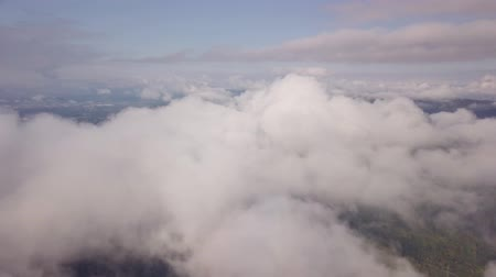 mounted : drone flight through the clouds Stock Footage