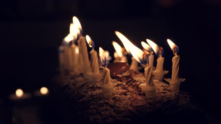 burn out : a birthday cake with candles