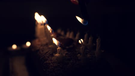 darbe : a birthday cake with candles