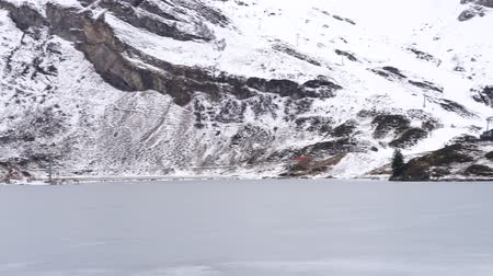 icy : a frozen mountain lake Stock Footage