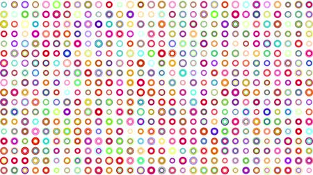 motion elements : abstract colorful polka dots animation of dynamic circles background on white