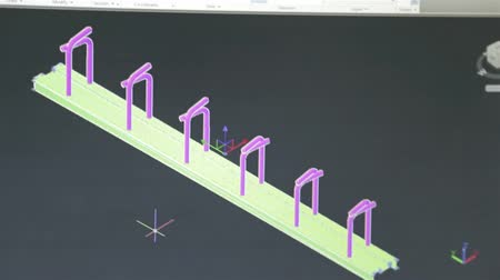 Close Up Of Just Computer Screen Showing Autocad Engineering Design