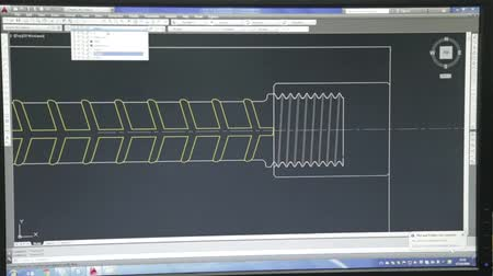 Computer Screen From Front - Auto Cad - Engineering Design