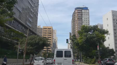 busking : Sao Paulo - Buildings From Moving Car - Front Angle