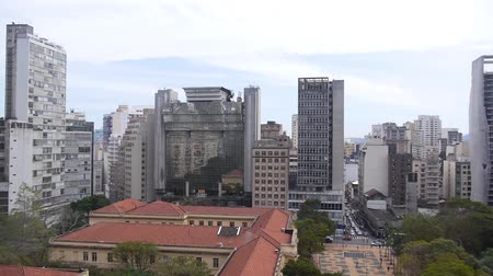 Sao Paulo City - Surrounded By Buildings - Pan - Left To Right II