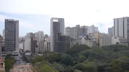 busking : Sao Paulo City - Surrounded By Buildings - Pan - Right To Left II