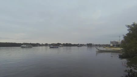 Boats Moving Around The Bay - Brazil - Timelapse