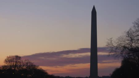 georgetown : Monument In Black Light During DC Sunset Sky - Static