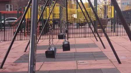 south asian food : Empty Swings Moved By Wind - Static