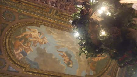 zegar : Baroque Paintings On Ceiling - Slide - Right To Left Wideo