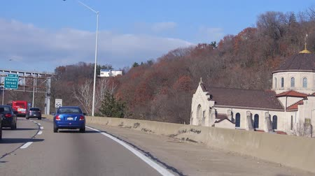 sight seeing : Following Blue Car On Highway - Slide Forward