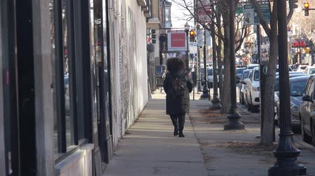 żródło : Woman Walking In Jacket From The Back - Static