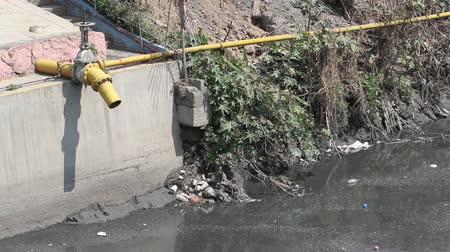 Sewer System in Mexico City Sub Urban areas pollution water, human waste, plastic and ecological problems Wideo