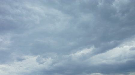 thicken : Time lapse video of clouds thickening before storm